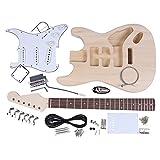 ammoon ST Style Guitare électrique Corps Tilleul Manche Erable Touche Palissandre Bricolage Trousse de Panoplie