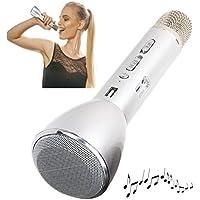 Karaoke Micrófono con efecto de sonido Bluetooth Altavoz Echo Wireless (inalámbrico, batería, puerto USB, Smartphone, PC, Tablet)