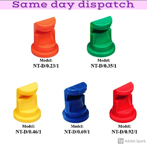 CHEAPEST ON AMAZON Deflector Spraying Nozzle Tips For Knapsack 125-140 Degree Angle. (4 Nozzles) (MIX AND MATCH) YOU CHOOSE YOUR NOZZLES