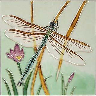 YH-Arts 6x6 Dragonfly 2, Multicolour, 15x15x0.7 cm