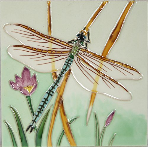 yh-arts-dragonfly-2-ceramic-tiles-multi-colour-6-x-6-inch
