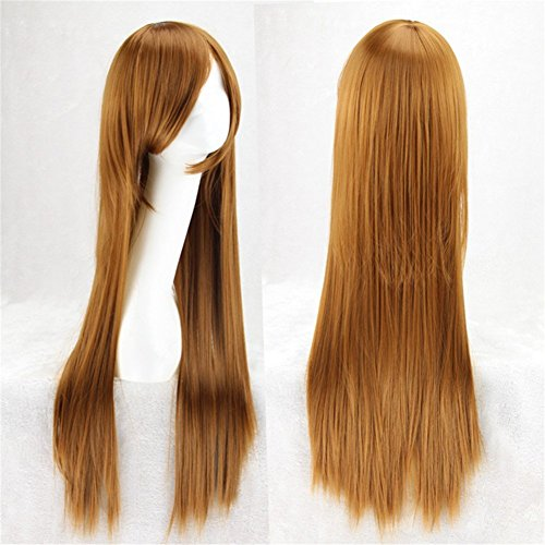 "31.5"" Long Staight Anime Hair Full Fiber Cosplay Costume Wig for Cosplay/Costume/Anime/Party ( 80CM) (Brown)"