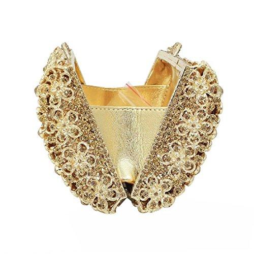Donna Borsa Da Sera Lusso Eleganza Diamanti Frizione Borsetta A