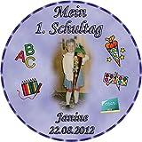 Tortenaufleger Fototorte Tortenbild Schulanfang Einschulung 1. Schultag Rund 14 cm Durchmesser SE02