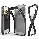 URCOVER Case Cover Custodia Trasparente Apple iPhone 6 Plus / 6s Plus di Silicone TPU | Morbida Protettiva Flessibile Lavabile Leggera con Bordo Cromato in Nero