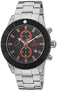 Titan Chronograph Multi Colored Dial Men's Watch - 9379KM01