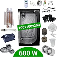 Growbox Komplettset 600 Watt HPS Cooltube Protube 100x100x200 - Vorschaltgerät Agrolite 2