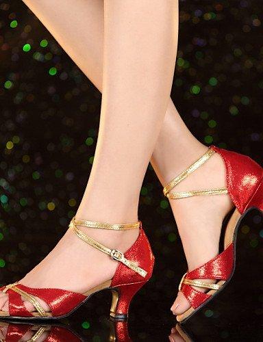 ShangYi Chaussures de danse ( Autre ) - Non Personnalisables - Talon Cubain - Cuir / Cuir Verni - Latine / Jazz Blue