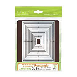Tonic Studios 484e Mixed Rectangle Layering Die Set, White