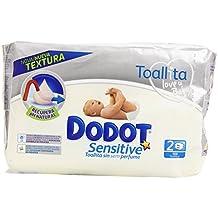 Dodot - Toallitas para piel sensible, sin perfume - 2 paquetes 108 toallitas - Pack