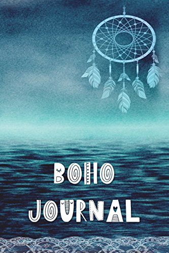 Boho Journal: 140 Lined Pages Softcover Notes Diary, Creative Writing, Class Notes, Composition Notebook -  Dreamcatcher Blue Ocean por Simple Planners and Journals