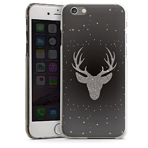 Apple iPhone 4 Housse Étui Silicone Coque Protection Cerf Paillettes Motif CasDur transparent