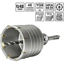 S&R Corona de Perforación en seco Ø 68mm + Adaptador SDS Plus 110 mm + Broca 8 x 110 mm