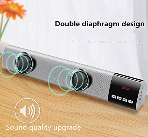 Altavoz Bluetooth Altavoces Portátiles Dobles Compatibles Tarjeta TF Barra De Sonido USB...