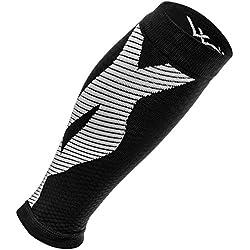 Mangas de compresión de ternero (1 par): calcetines de compresión de pierna premium para hombres y mujeres. La mejor abrazadera de soporte KT para correr, espinilleras, entrenamiento cruzado, resistencia, rendimiento, circulación y alivio del dolor