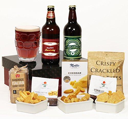 'Hoppy' 'Beer'thday - Beer & Nibbles Gift Hamper