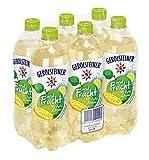 Gerolsteiner und Frucht Apfel Zitrone / Natürliches Mineralwasser mit prickelnder Kohlensäure - mit 20% Fruchtsaftgehalt aus Äpfeln und Zitronen / 6 x 0,75 L PET Einweg Flaschen