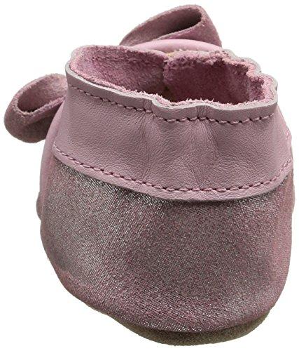 Robeez Tender Knot, Chaussures de Naissance Bébé Fille Rose