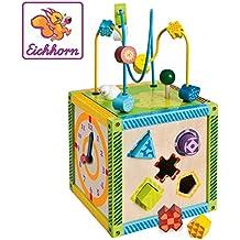 Eichhorn - 100002235 - Jeu Bois - Maison Multi Jeux Eveil - 5 Jeux