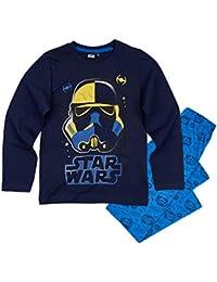 Star Wars-The Clone Wars Darth Vader Jedi Yoda Chicos Pijama - Azul