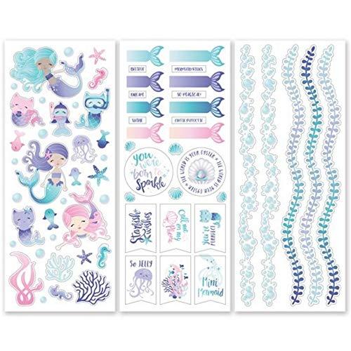 Creative Memories Sticker, Meerjungfrauen-Motiv, 3 Stück