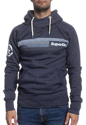 Superdry Sweater Men SUPER 77 SURF RAGLAN Night Shade Blue Grit