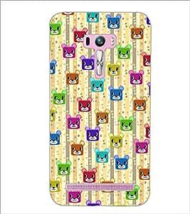 PrintDhaba Cartoon Pattern D-4050 Back Case Cover for ASUS ZENFONE SELFIE ZD551KL (Multi-Coloured)