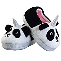 LULEX Boys Girls Memory Foam Bedroom Slippers Anti-Slip Cute Animals House Slippers Slip on(Toddler/Little Kid)