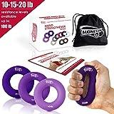 3 in 1 Handmuskeltrainer & Fingertrainer (5-9kg)- Handtrainer Ring & Unterarm Trainingsgerät aus...