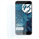Bruni Schutzfolie kompatibel mit Meizu Pro 6 Plus Folie, glasklare Bildschirmschutzfolie (2X)