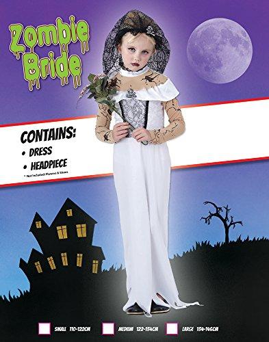 Imagen de rubbies  disfraz de novia zombi para niña, talla 9  10 años cc855  alternativa