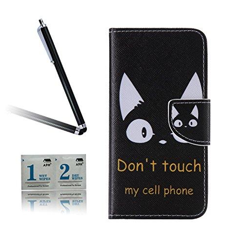 ARTLU® BQ Aquarius M5.0 Taschen Schalen PU Leder Tasche Schutzhülle Hülle Handy Etui Schale mit Ständerfunktion und Kreditkartenfächer für BQ Aquaris M5 (5.0 inches)A12