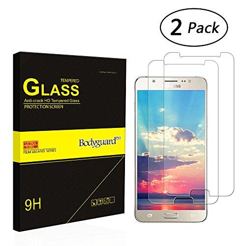 Bodyguard 2 Stück Panzerglas Schutzfolie für Samsung Galaxy J5 (2016), 9H Härte Displayschutz 0.3mm Ultradünner 99% Ultra-klar für Samsung Galaxy J5 (2016) 3D Touch Kompatibel