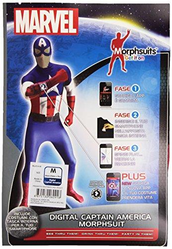 joker MLZCA-M Marvel Capitan America Costume di Carnevale, in Busta, Multicolore