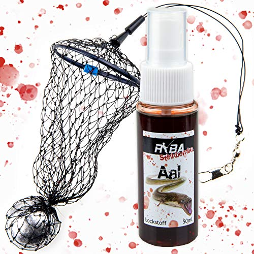 TheBigFish - Nylon Netz Futterkorb Aal-Feeder - 50g + Aal Lockstoff