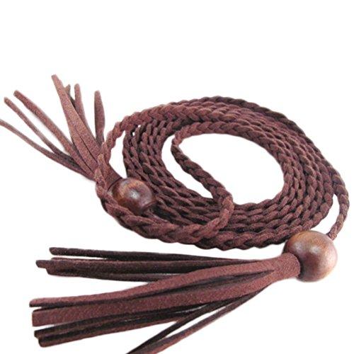 nanxsontm-damen-madchen-dekorative-gestrickte-lederbauchkette-seil-gurt-mit-troddel-und-kugelchen-pd