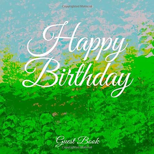 Happy Birthday. Guest Book.