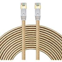 Rete Ethernet LAN Cavo piatto CAT7cavo patch RJ45, Oro