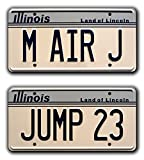 Celebrity Machines Air Jordan - M AIR J + Jump 23 - Plaque d'immatriculation en métal estampillé