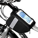 3ef58ecf1d9 Jiasj Bolsa Bicicleta Cuadro, Bolsa de Tubo Superior Delantera de Bicicleta,  Pantalla Táctil Bolsa de Almacenamiento de Teléfono Paquete de Bicicletas  ...