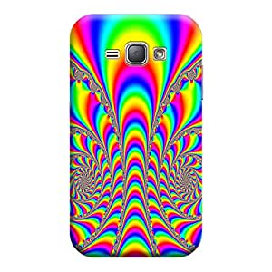 Qbic Premium 3d Printed Back Case Cover Samsung J1 2016 (Premium Designer Case)