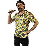 Déguisement pour adulte du plus célèbre baron de la drogue avec une chemise + une perruque + une moustache + un cigare. Idéal pour les enterrements de vie de garçon.