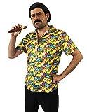Déguisement pour adulte du plus célèbre baron de la drogue avec une chemise + une perruque + une moustache + un cigare. Idéal pour les enterrements de vie de garçon. ( XXLarge )
