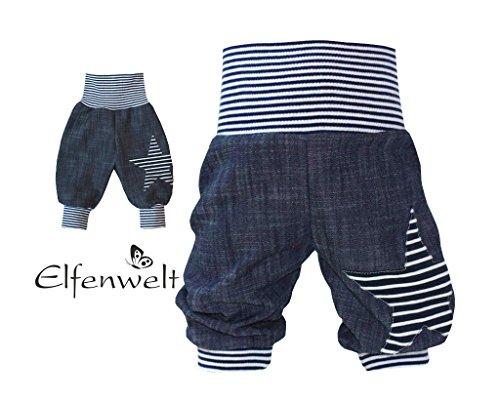 Elfenwelt - Babyjeans dunkelblau/weiß
