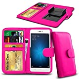N4U Online® Pink Clip On Series PU Leather Wallet Book