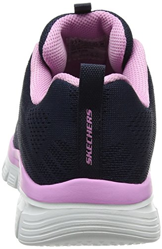 Skechers Women 12615 Low-top Trainers, Blue (Navypink), 4 Uk (37 Eu)