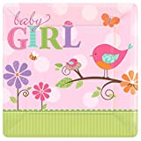 Amscan 10-inch Tweet Baby Girl Square Plate Party Accessory