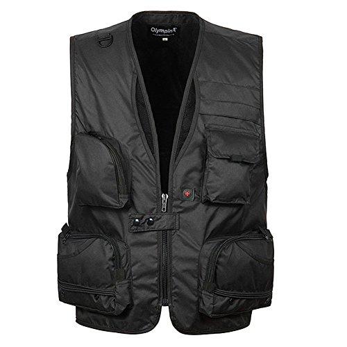 GITVIENAR Outdoor Multi-Tasche Weste leichtgewicht und atmungaktiv Sportbekleidung Weste f