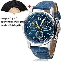 Malloom® lujo moda cocodrilo cuero de imitación hombres hombres analógico Relojes ...