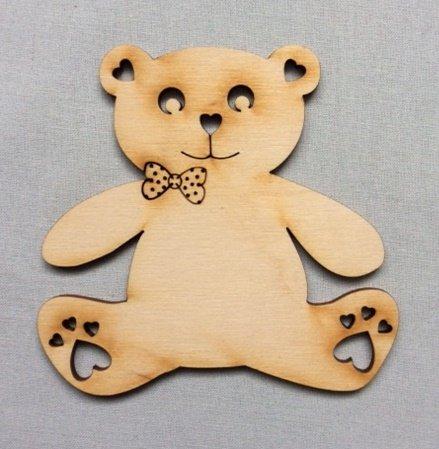 5x Teddy Bär blank Form Holz Basteln Malen Dekoration Wohnen (Teddy Bär Form)